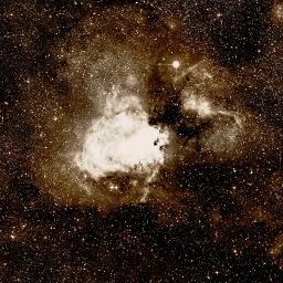 Wikisky image of area around m17